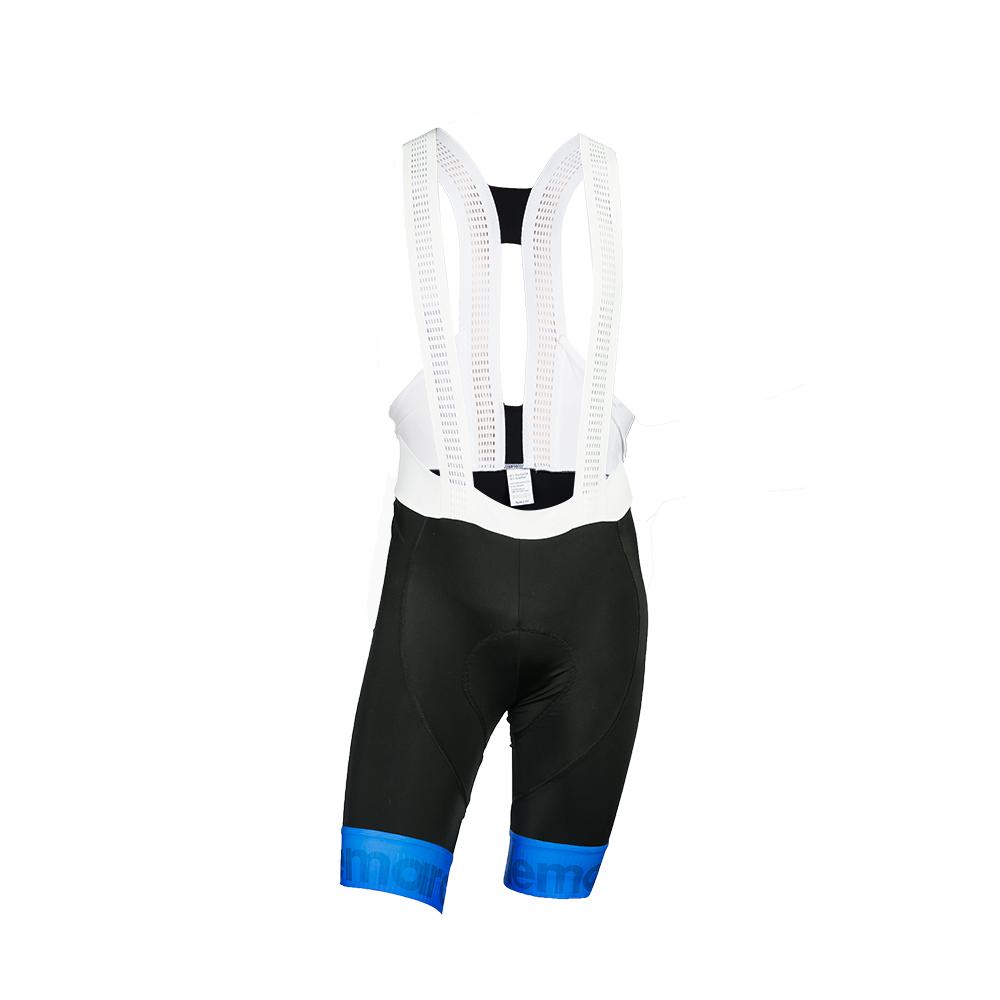 Παντελόνι ποδηλασίας με τιράντα | Μαύρο Μπλε Fluo