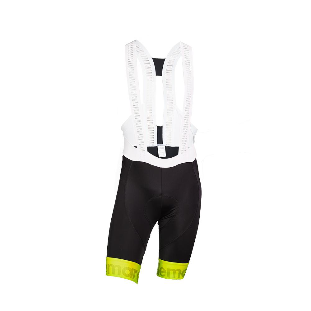 Παντελόνι ποδηλασίας με τιράντα | Μαύρο Κίτρινο Fluo